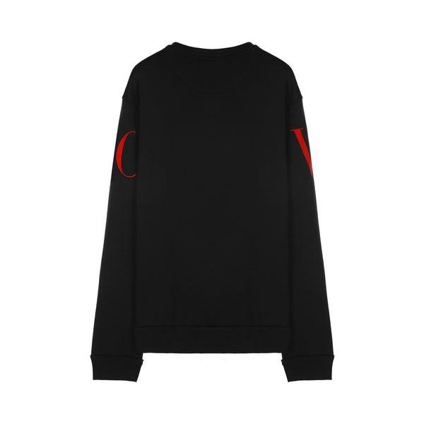 Valentino Crew-neck Sweatshirt with Valentino Print