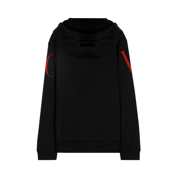 Valentino Printed Hooded Sweatshirt with Zipper
