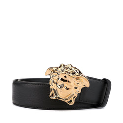 Versace Medusa Buckle Leather Belt