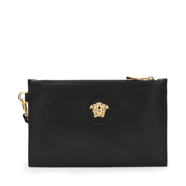 Versace Pebbled Leather Pouch