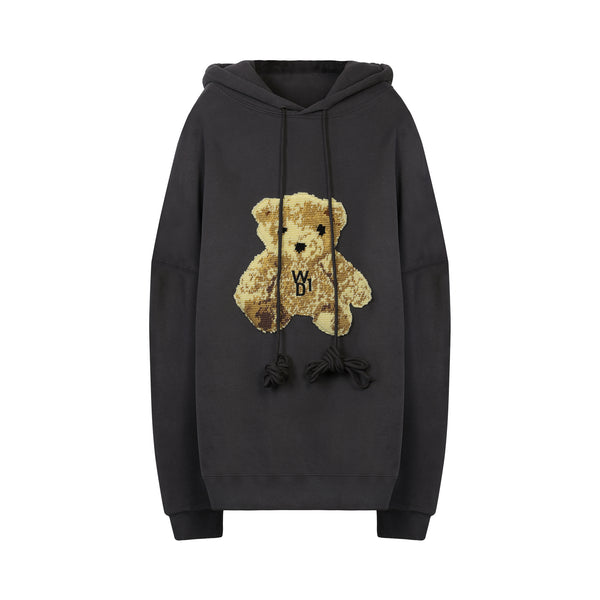 We11done - Teddy Bear Patch Hoodie