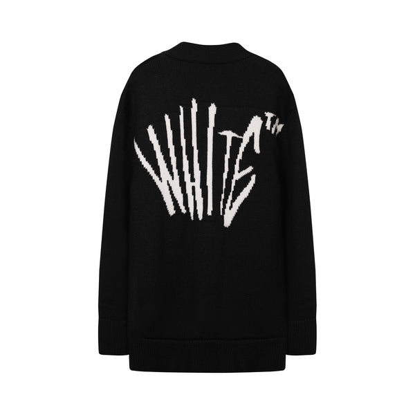 off white - Graffiti V-neck Cardigan