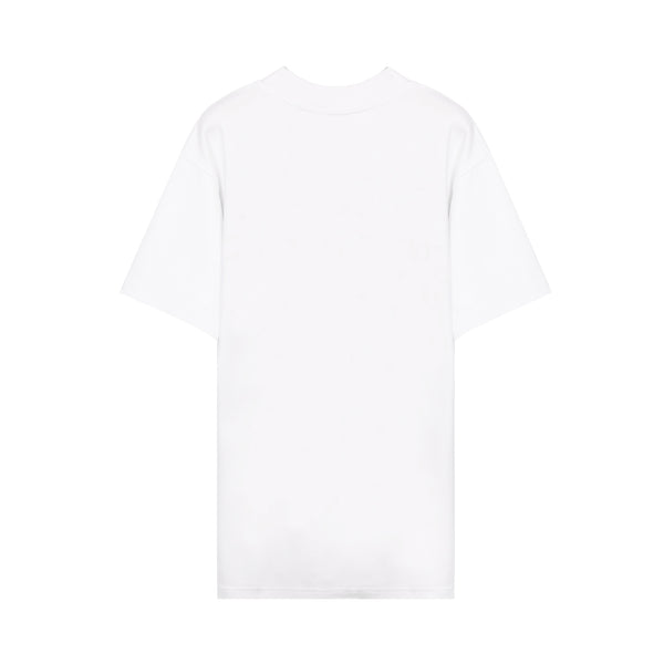 off white - Arrows-motif Floral-print T-shirt