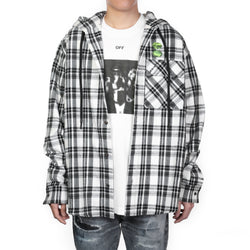 off white - Stripped Check Pattern Shirt