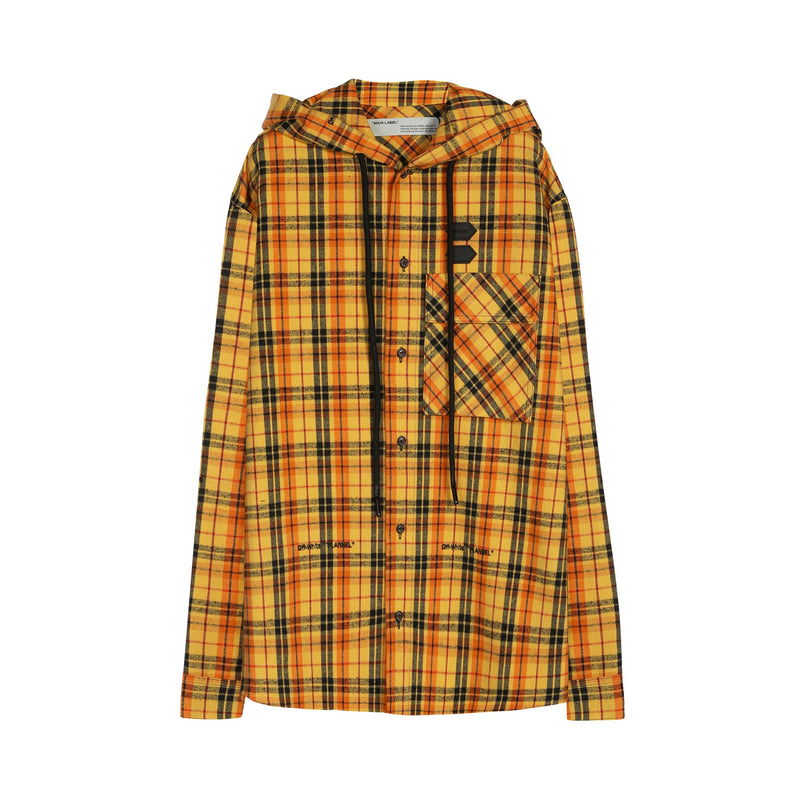 Off-White Stripped Check Pattern Shirt