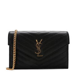 Saint Laurent - Classic Monogram Flap Front Chain Wallet