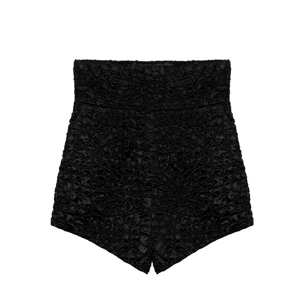 Saint Laurent - Matelassé satin shorts