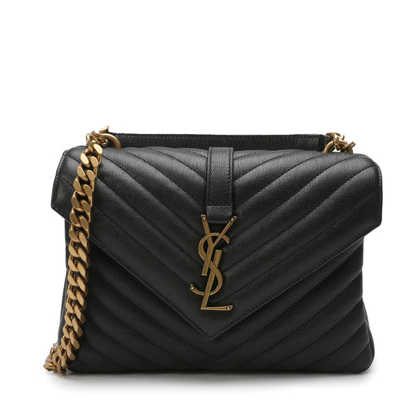 Saint Laurent - Logo Plaque Quilted Shoulder Bag