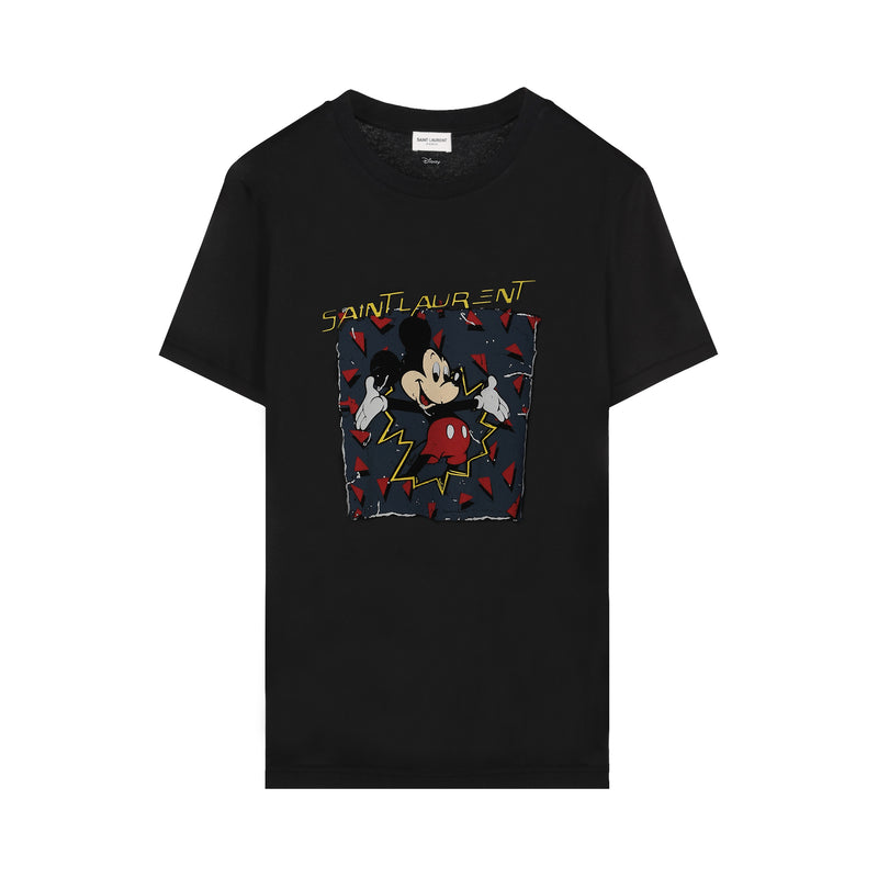 Saint Laurent - Mickey Mouse Print T-shirt