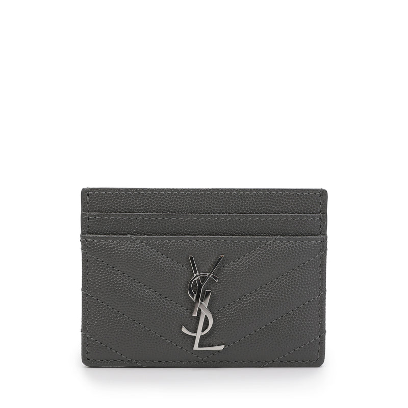 Saint Laurent - Quilted monogram cardholder