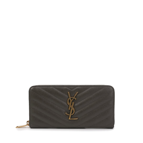 Saint Laurent - Full Zip Monogram Wallet