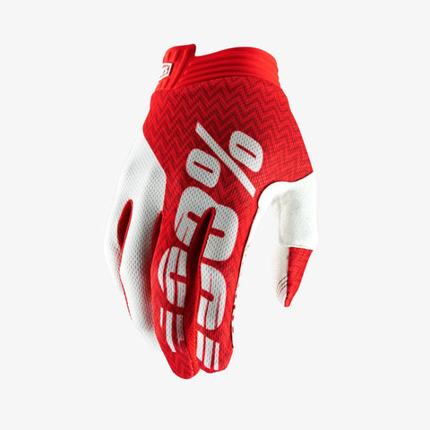 Ride 100% ITrack Glove Red/White XLarge
