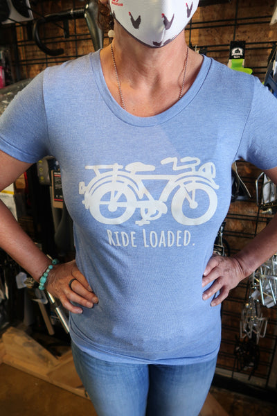 """Ride Loaded"" American Apparel USA-Made Tri-Blend T-shirt"