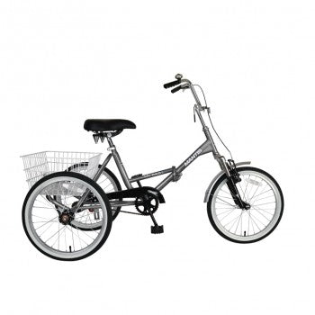 Mantis Tri-Rad Adult Folding Trike Silver 20""