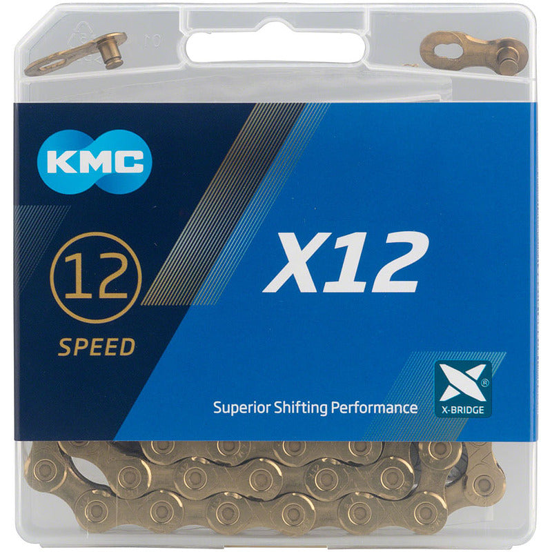 "KMC X12-TI GOLD chain 11/128"" 126Links"