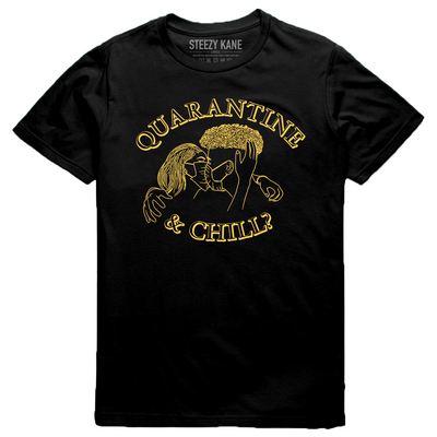 Quarantine & Chill Tee (Black/Yellow)
