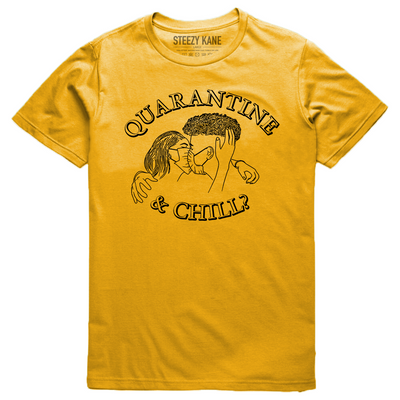 Quarantine & Chill Tee (Yellow/Black)