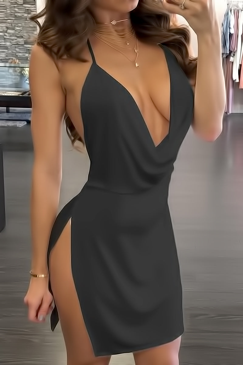 Side Slit Party Dress