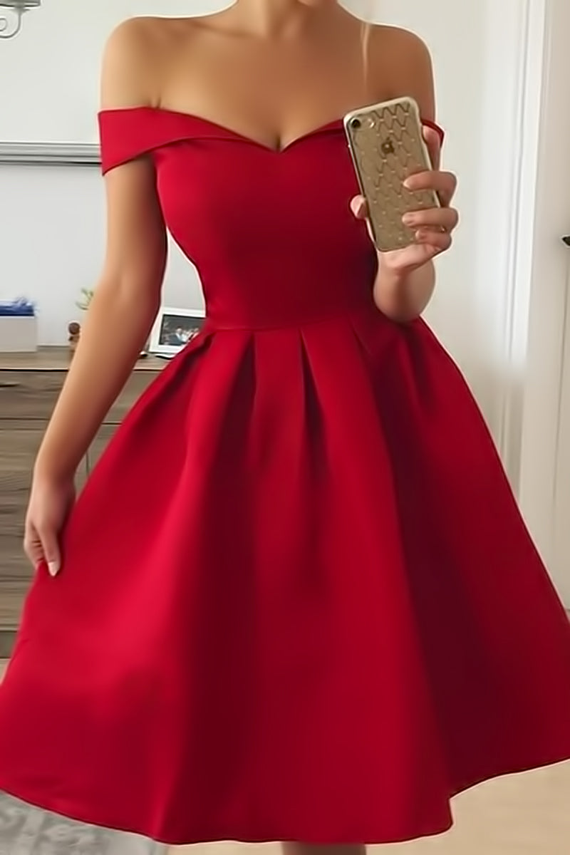 Neck Off Shoulder Party Dress
