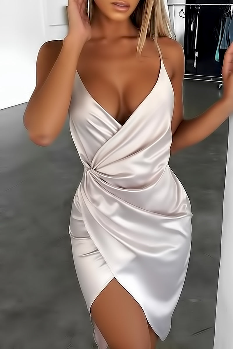 Satin Irregular Party Dress