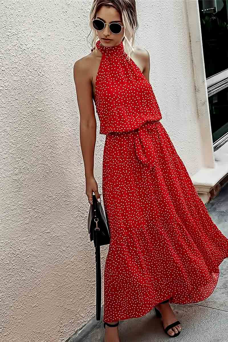 Boho Floral Backless Dresses