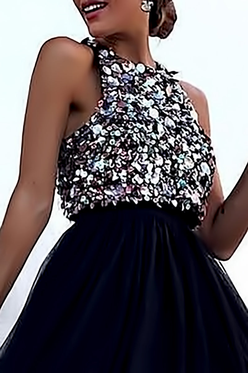 Sequins Ruffles Dress