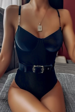 Metal Spaghetti Strap Swimsuit