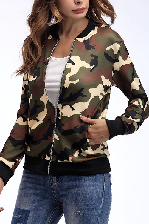 Stylish comfortable camouflage jacket