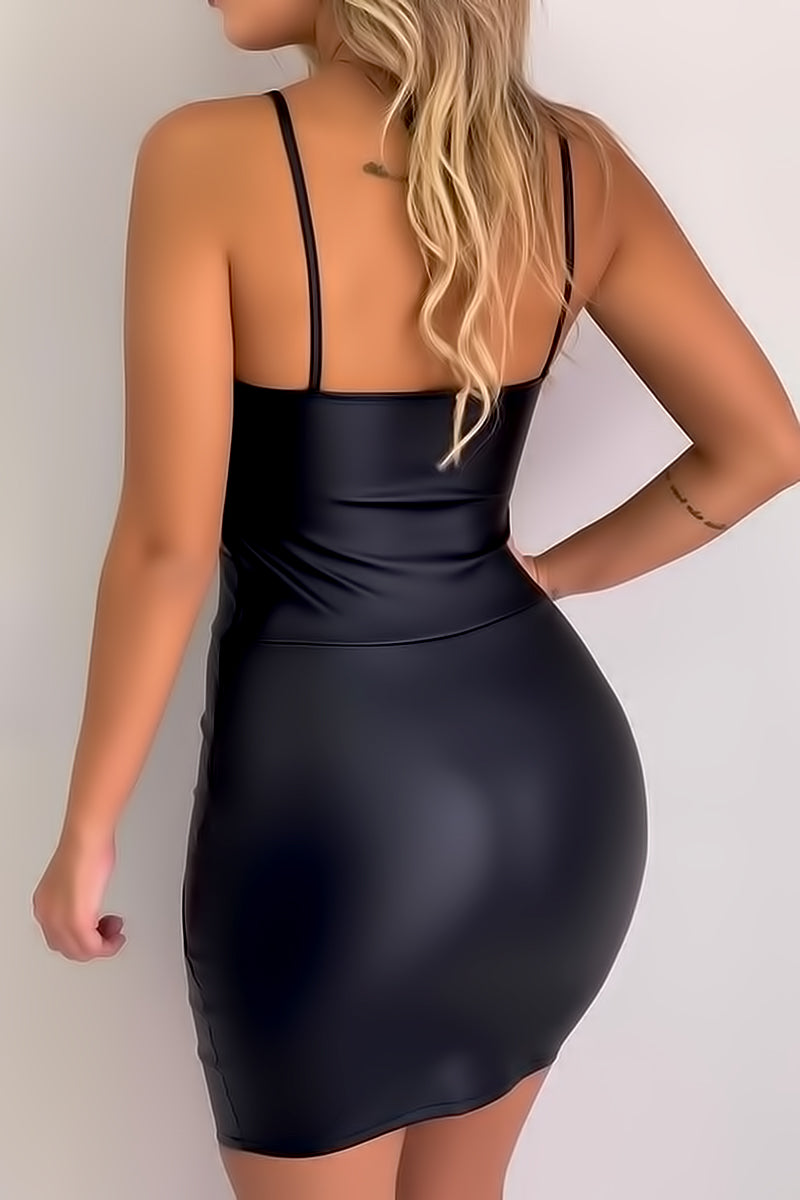 Backless Spaghetti Strap Dress