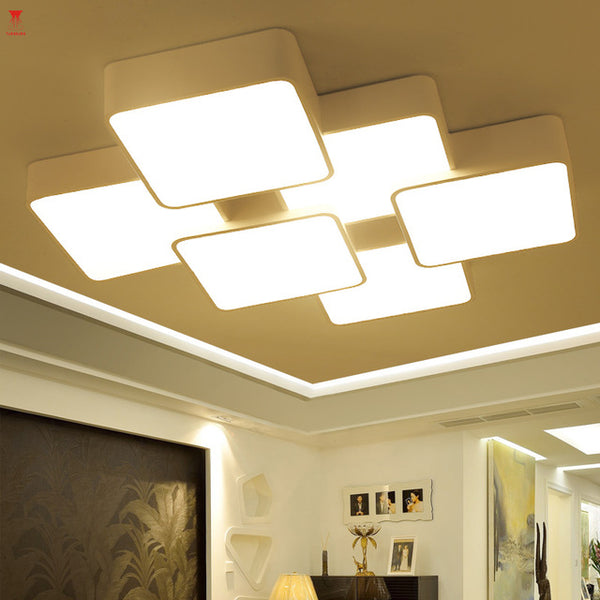 White-rectangle-Modern-LED-Ceiling-light
