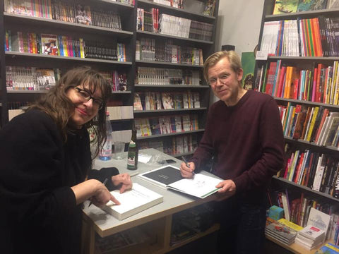 "From the launch of Lars Fiske's ""Grosz. Berlin – New York"" at Modern Graphics, Kastantienallé. German publisher: avant-verlag.  Also published in the USA by Fantagraphics"