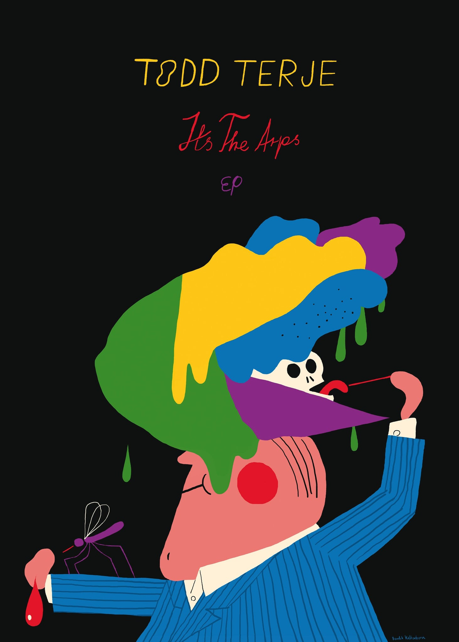 Bendik Kaltenborn: Todd Terje, Its The Arps. Signed Poster