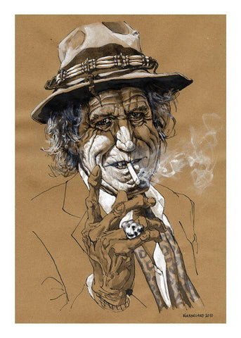 Temporarily out of stock Steffen Kverneland: Keith Richards, plakat, signert