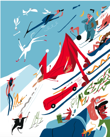 Temporarily out of stock! Bendik Kaltenborn, skiing, signed poster