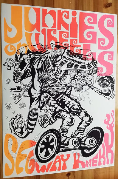 "Christopher Nielsen: ""Junkies on Wheels"" Silketrykk, 8 motiver"