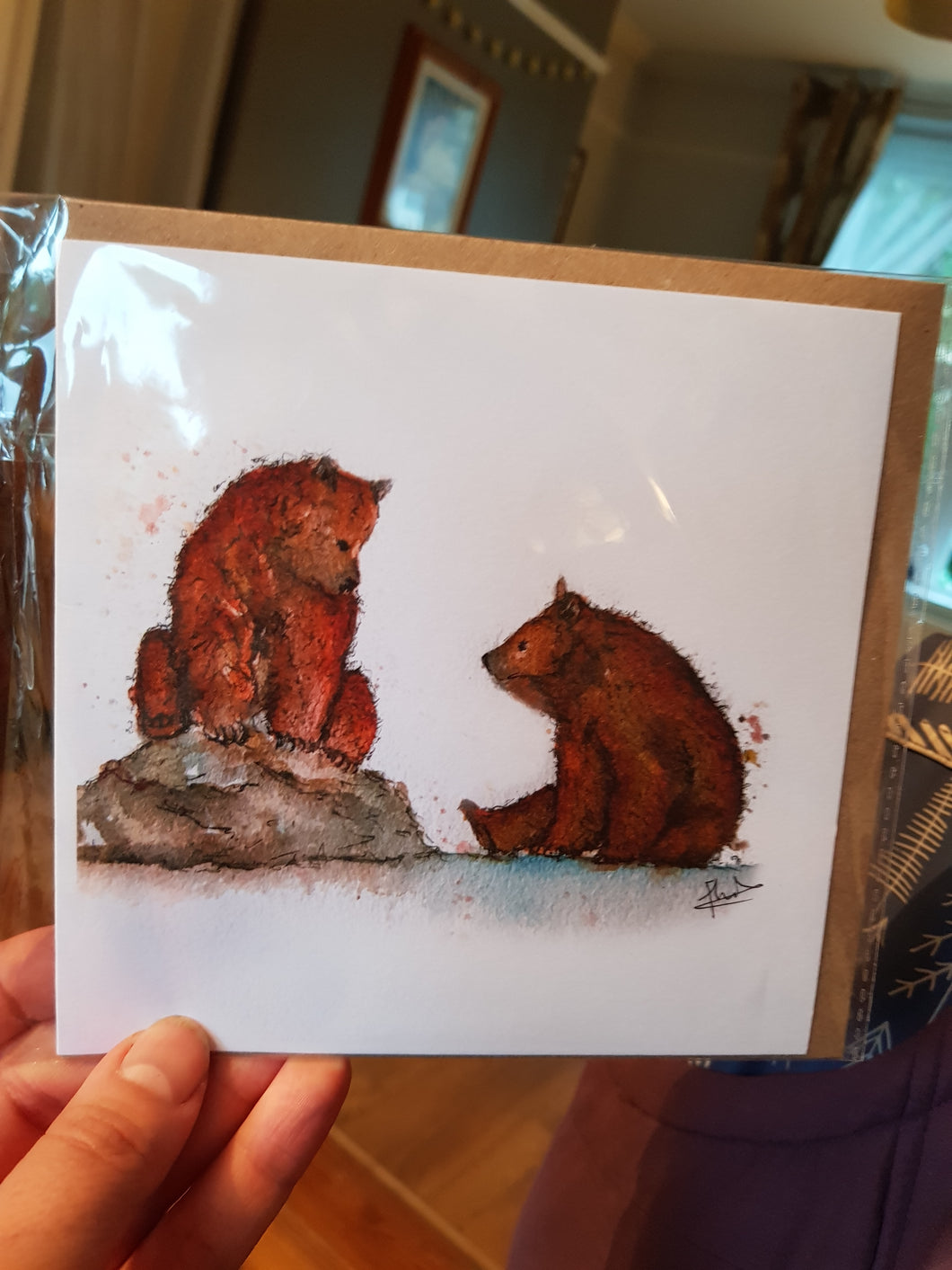 Bear Play Greeting Card
