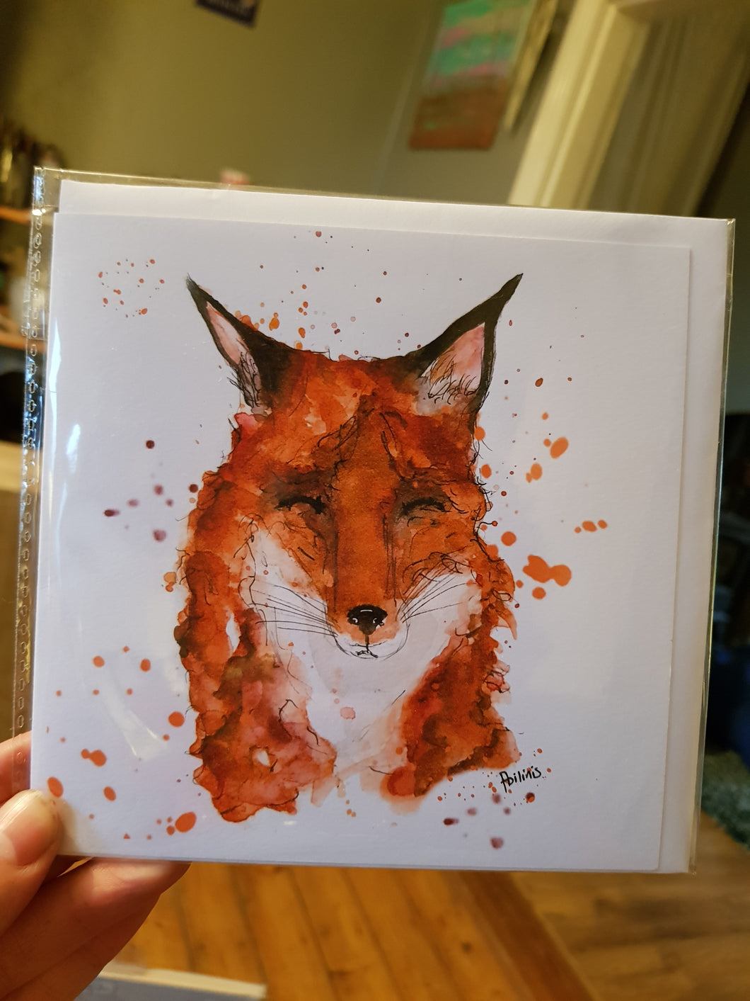 Dozy Fox Greeting Card