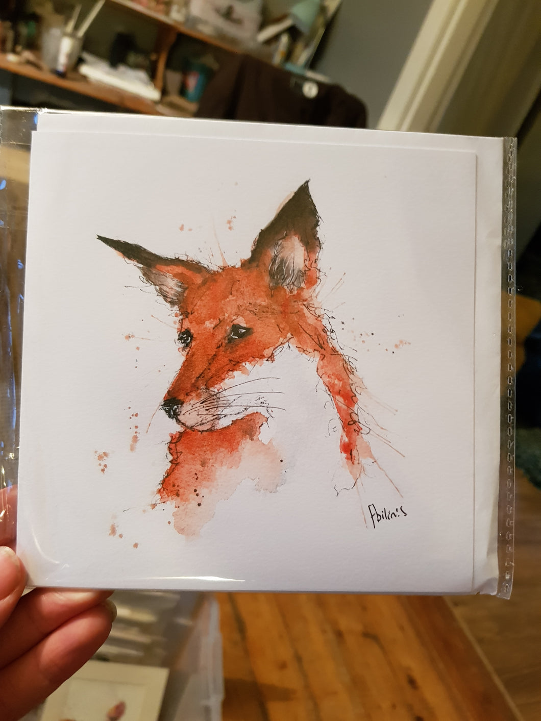 Abandoned Fox Greeting Card