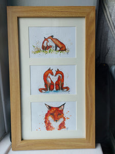 Fox collection framed