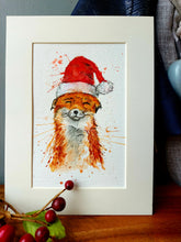 Load image into Gallery viewer, Festive fox prints