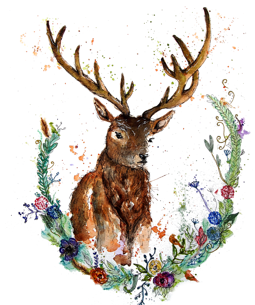 Autumn Stag Greeting Card