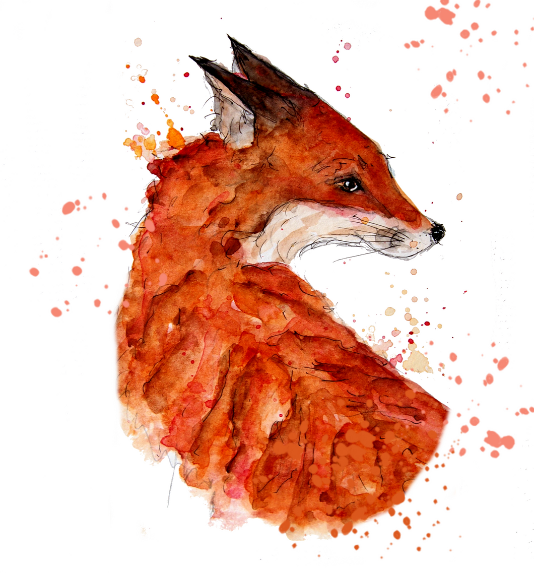 The Lookout Fox Greeting Card