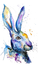 Load image into Gallery viewer, Blue Hare print