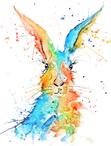 'Dream' Hare Print