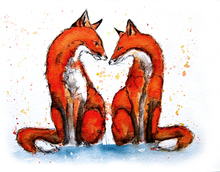 Load image into Gallery viewer, Fox Love Print