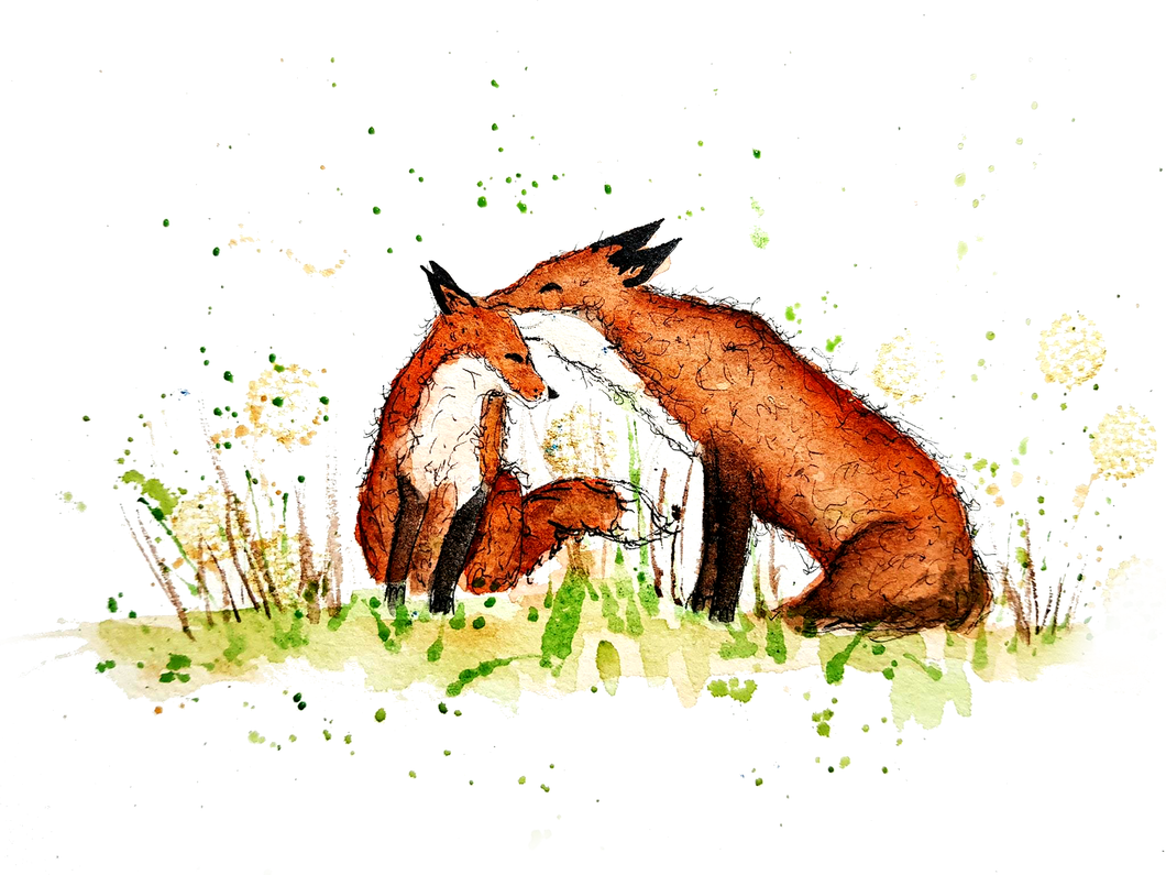 Fox Whispers Greeting Card