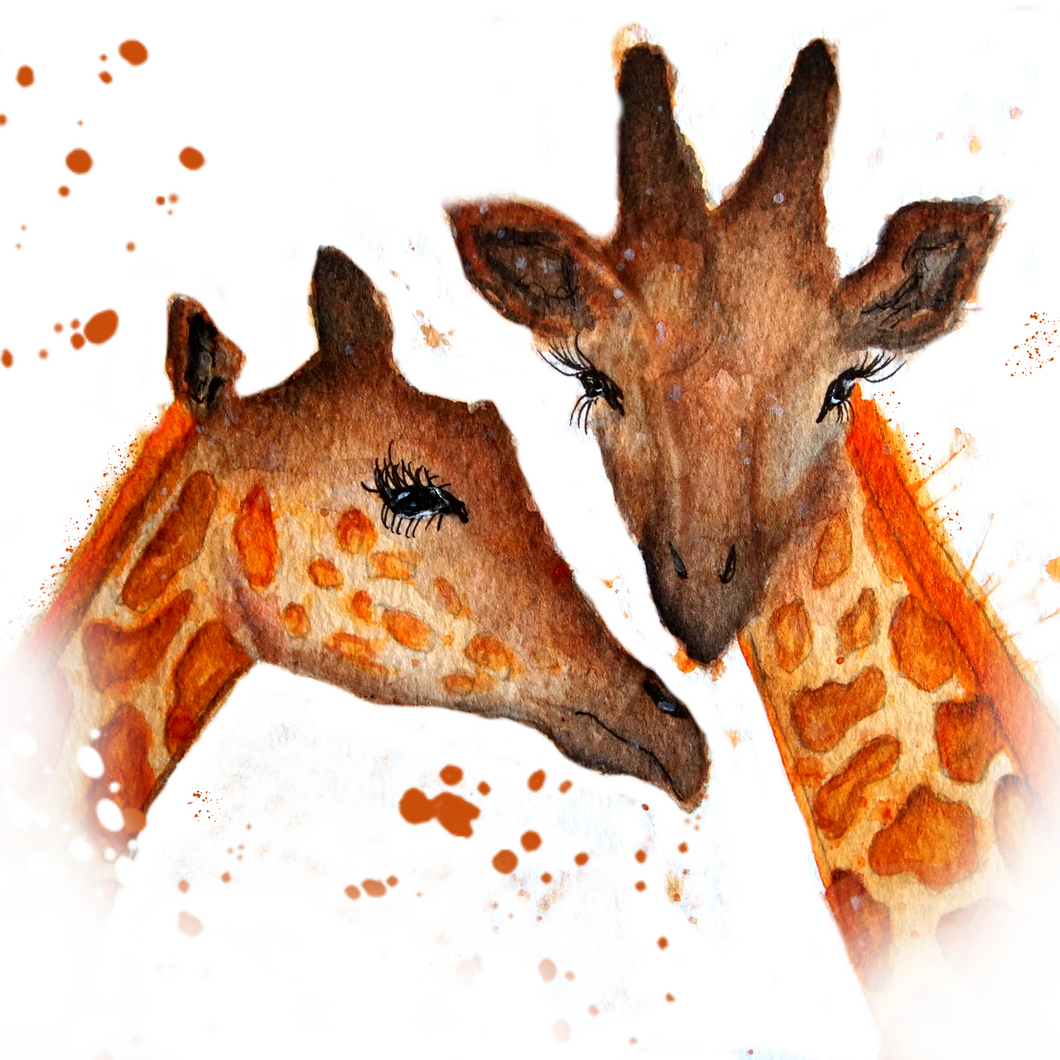 Giraffe Pair Greeting Card