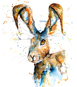 Wild Hare Greeting Card