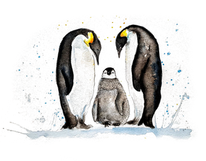 Penguin Family Greeting Card