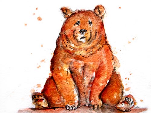 Sitting Bear Greeting Card